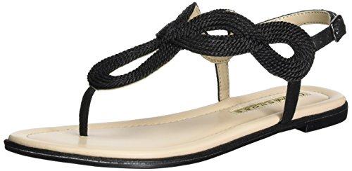 Buffalo Shoes Damen 14S07-46 Fabric Zehentrenner, Schwarz (Black 01), 39 EU