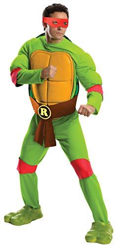 Kostüm Erwachsene Für Standard Raphael - Teenage Mutant Ninja Turtles Raphael Deluxe Erwachsene Kostüm (Standard)