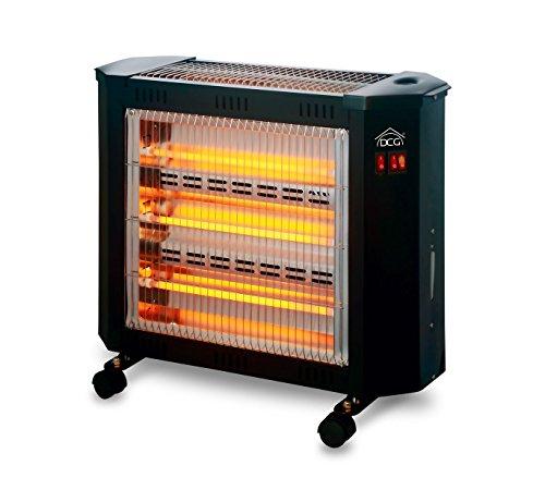SA9624 Stufa elettrica DCG quarzo 4 elementi umidificatore 3 livelli temperatura. MEDIA...