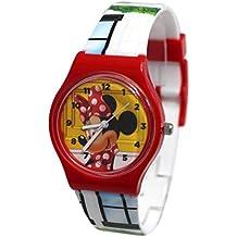 Mickey - Reloj infantil, diseño de Minnie Mouse.