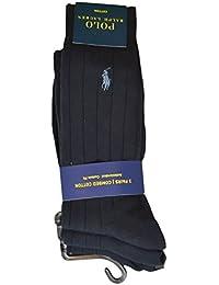 Lot de 3 paires de chaussettes Ralph Lauren bleu noire pour homme