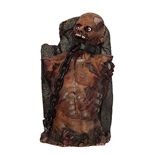 QHWJ Halloween Puntelli di Zombi, Forma di Pietra tombale Carne Marcia Sanguinante Corpo Maschile Cranio Cranio Ornamenti in Lattice, Bar infestato Bar KTV Fuga da Sala