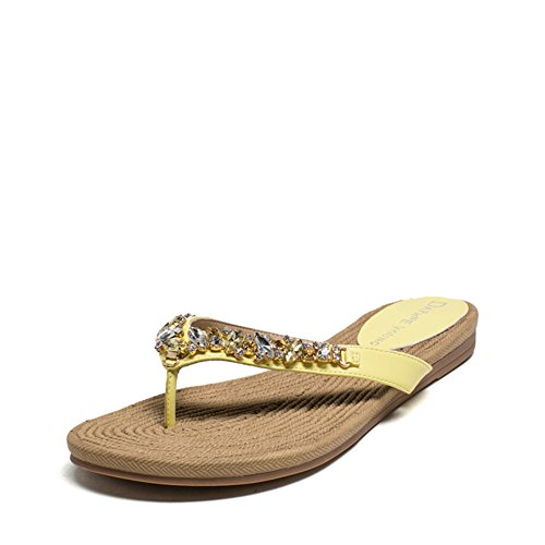 Strass estate moda Lady di pantofole/ tessitura fine del toe sandali e infradite donna C