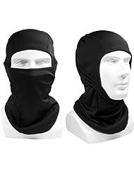 Balaclave, ibuger Pasamontañas transpirable Quick Dry Máscara Facial Face Protector para motocicleta Ciclismo Esquí y deportes outdoor Sport -- Negro