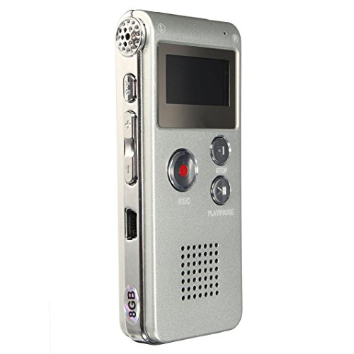 8GB Digital Audio Voice Recorder fcostume wiederaufladbarer Diktiergerät Telefon MP3-Player