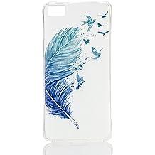case cover para BQ Aquaris A4.5 / M4.5,Crisant plumas de aves Diseño Protección suave TPU Gel silicona Teléfono Celular Back funda Carcasa para BQ Aquaris A4.5 / M4.5