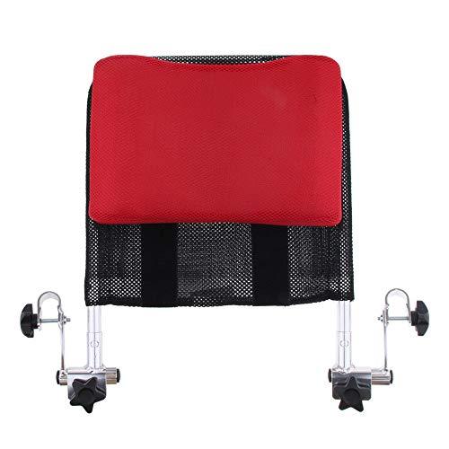 JFJL Universal Kopfstütze für Rollstuhl,Tragbare Rollstuhl-Kopfstütze Hals Kopfstütze Verstellbare Polsterung für Erwachsene Universal-Rollstuhlzubehör für 16-20 Zoll,Red (19-zoll-hals)