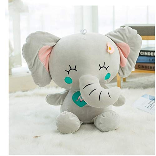 SunLively Elephant Down Cotton with Flowers Plush Toy Cartoon Modelling Soft Stuffed Super Kawaii Animal for Grils