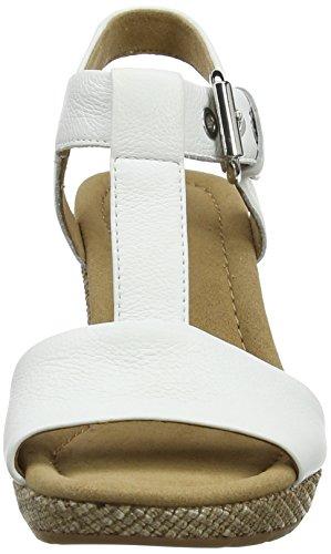 Gabor Shoes 22.824.50 Damen Plateau Sandalen Weiß (weiss (ba.st))