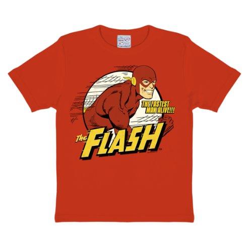 Logoshirt - DC - Flash - The Fastest Man Alive, T-shirt per bimbi, rosso (rot), 62.2/64.57 inches, 13-14 anni