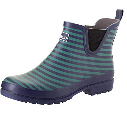 Jileon Ankle Height Wellies for Women - Wide Foot EEE Fit - Ideal for Wide Calves and Feet