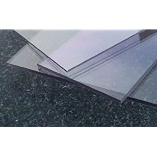 Clear solid polycarbonate sheet, 2050 x 1250 x 1,0 mm Plate Polycarbonate cut colorless