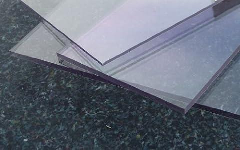 Plaque Polycarbonate Uv - Plaque en polycarbonate UV transparente 600 x