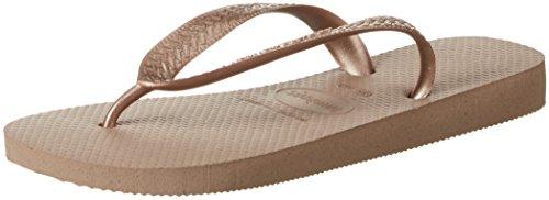 Havaianas Unisex Adults' Flip Flops, Beige/Rose Gold - UK 4/5 (Brazil 37/38)