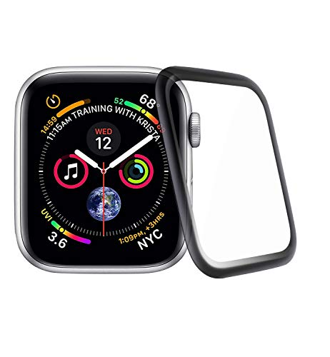 Seinal 3D Full Screen Panzerglas kompatibel für iWatch 38mm Series 1/2 / 3 (2 Stück) Schutzfolie 9H Screen Protector Glass Displayschutzfolie/Panzerfolie 3D Touch Hartglas Tempered Glas(Schwarz) 38 Glas