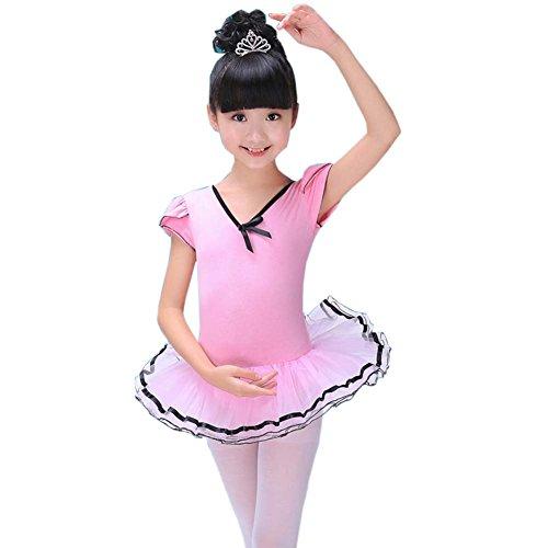Mädchen Kleid Ballett Rock Tutu Tanz Zubehör Ballett Versorgung Tanz Kostüme, Pink