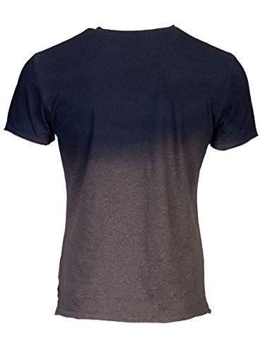 TREVOR'S KARIM Herren T-Shirt mit Rundhalsausschnitt und Spray Effekt aus 100% Bio-Baumwolle - soziale fair trade Kleidung, Mode vegan und nachhaltig Color midnight, Size S - 2
