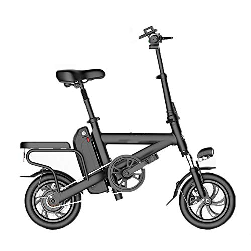 HBBenz Bicicletta Elettrica,Pieghevole e Portatile Elettrica Scooter Bicicletta a Pedalata Assistita con Illuminazione a LED Unisex Bicicletta,Battery~5.2ahblack