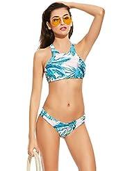 Asvert Bikinis Traje de Bañadores Mujer Natación de Poliéster Suave y Elástico para Playa y Piscina