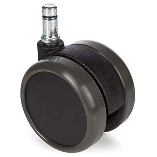 hjh OFFICE 619009 ruedas ROLO 10 mm / 65 mm lote de 5 ruedas para suelo duro silla de oficina