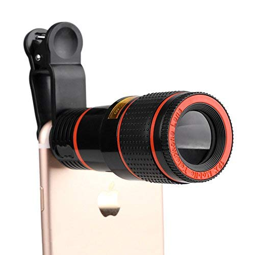 Generic HD Mobile Phone Telephoto Lens (No Dark Corner) 12 X Zoom Optical Telescope Camera Lens with Clips Universal for All Phone