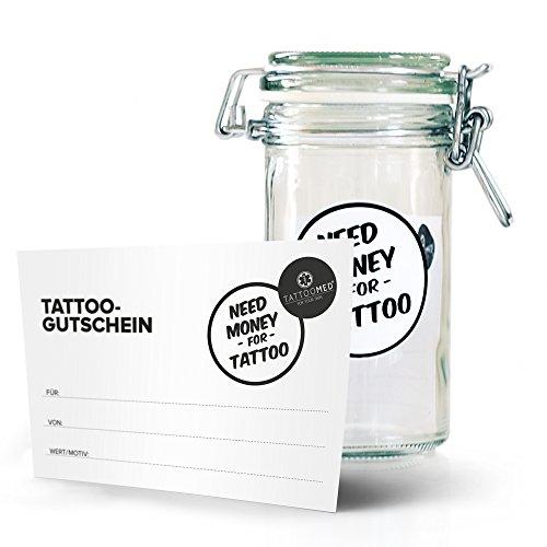 TattooMed Tattoo-Pflege für tätowierte Haut - Tattoo Spardose small + Gutschein