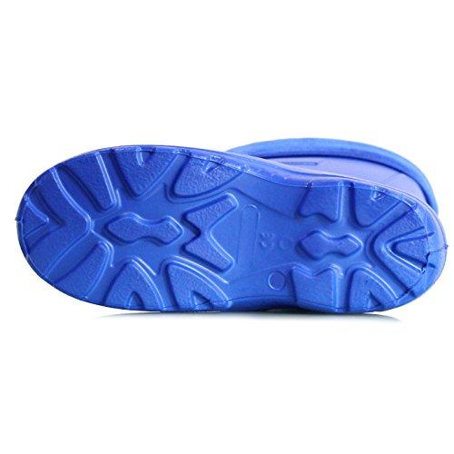 SoftlySoft kinder gummistiefel superleichtes EVA und gefüttert Blau