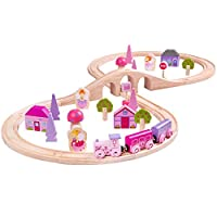 Bigjigs Rail Wooden Fairy Figure of Eight Train Play Set