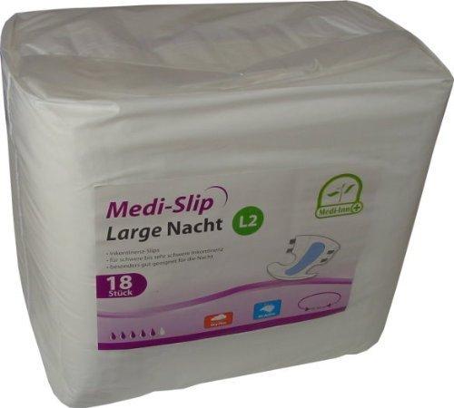 Windeln für Erwachsene Inkontinenzwindeln Inkontinenz Medi - Slip Medi-Inn ver Gr.(72 Stück,Large 2 (3150 ml))