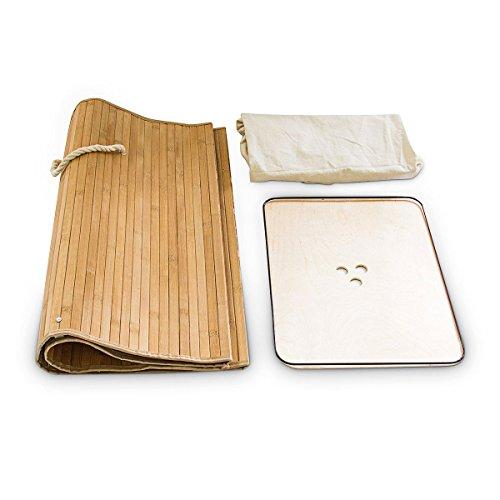 Relaxdays cesto ropa sucia de bamb plegable estrecho - Cesto ropa sucia amazon ...