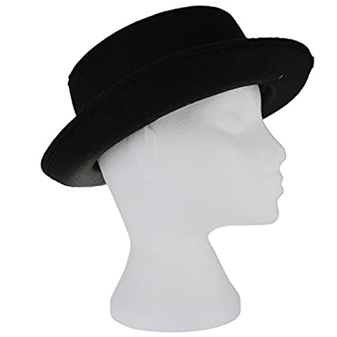 Adult Fedora Black Felt Hat Fancy Dress Accessory