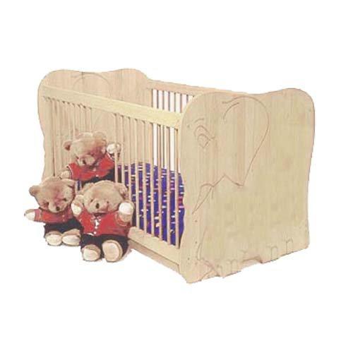 Babybett Elefant gefertigt nach EN 716-1 Kiefer Massivholz