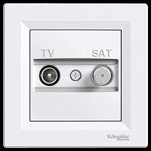 TV sat boîte end complet schneider electric asfora, blanc, produit neuf