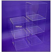 Faberplast FB124 - Cubo exposición, color transparente