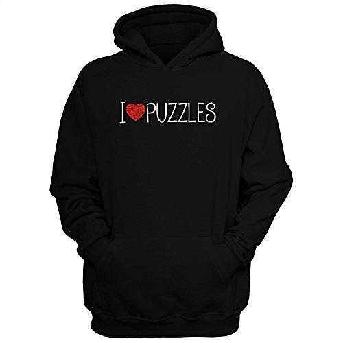 Idakoos I love Puzzles cool style - Ocio - Sudadera con capucha