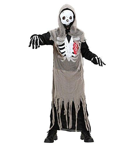 WIDMANN S.R.L., SKELETON Kostüm Zombie CM 140 (Halloween Kostüme Rumpf)