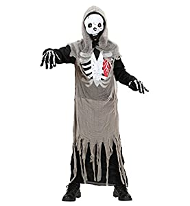 WIDMANN Widman - Disfraz de esqueleto de halloween adultos, talla M (12737)