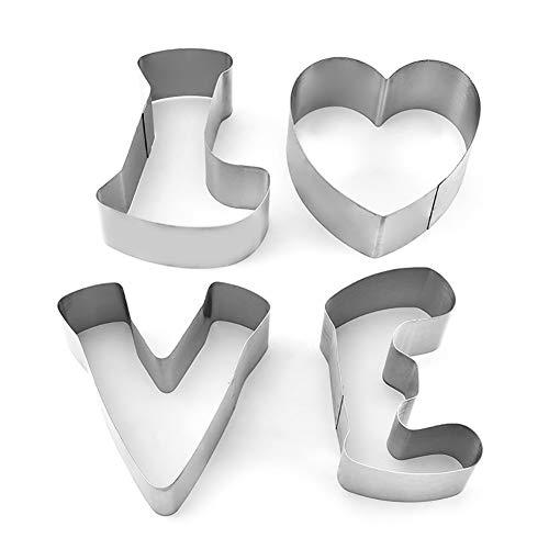 SJZC Englisch Brief Liebe Form Kuchen Schimmel Plätzchenform Backwerkzeuge