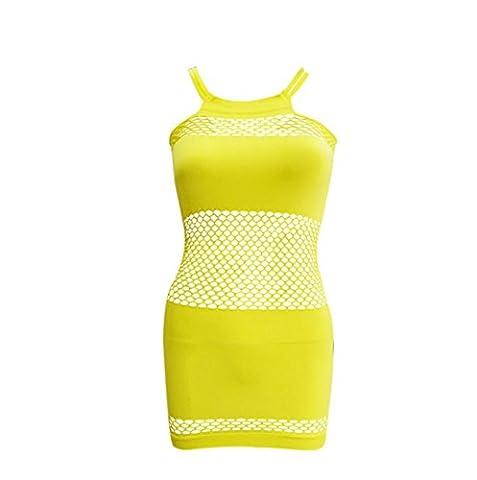 Ladies Lingerie Clothes Lanyard Slippery Net Transparent Paquet Visible