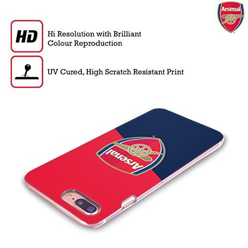 Ufficiale Arsenal FC Logo Nero 2016/17 Crest Cover Retro Rigida per Apple iPhone 5 / 5s / SE Logo Blu E Rosso