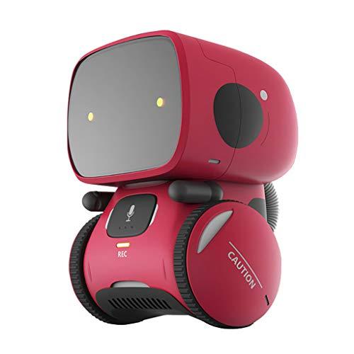Lazzgirl Sprachsteuerungsroboter, der intelligentes Roboter-pädagogisches Spielzeug erfasst(Rot,ABS)