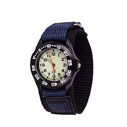 Wolfteeth quarzo analogico esercito orologio da polso per ragazzi orologio da polso portatile militare hook e loop nylon cinturino marina 304202