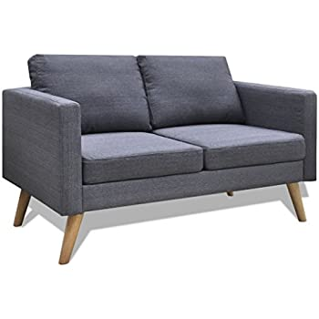 Design sitzmöbel  vidaXL Sofa 2-Sitzer Polstersofa Stoffsofa Loungesofa Couch Holz ...