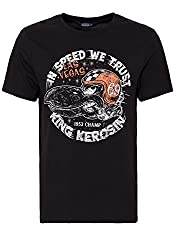 King Kerosin Herren T-Shirt Retro Front Print In Speed We Trust Rundhals Kurzarm In Speed We Trust