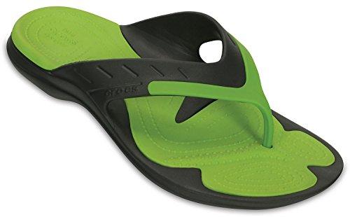 Crocs - Unisex MODI Sport Flip-Flop, EUR: 37.5, Graphite/Volt Green