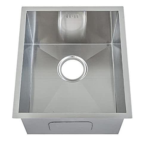Fait à la main. rayon zéro. Evier de cuisine inox sous plan 1 bac (DS005) Cuve simple