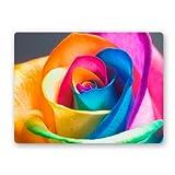 Yuxinke 3D Rainbow Rose, rutschfeste Gummi-Fußmatte, antibakterieller Teppich, Fußmatte fürs Badezimmer, Schlafzimmer, Küche, für den Innen- und Außenbereich, #1, 50x80cm