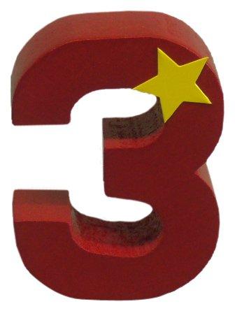 Niermann Standby 9313 - Geburtstag-Happy-Zahl 3, passend für alle Niermann Standby Dekoartikel