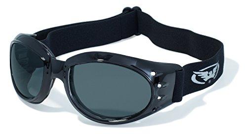 Global Vision Eyewear Eliminator Z Schutzbrille mit Schwarz Rahmen und Smoke Anti-Fog Objektive mit Micro Faser Tasche