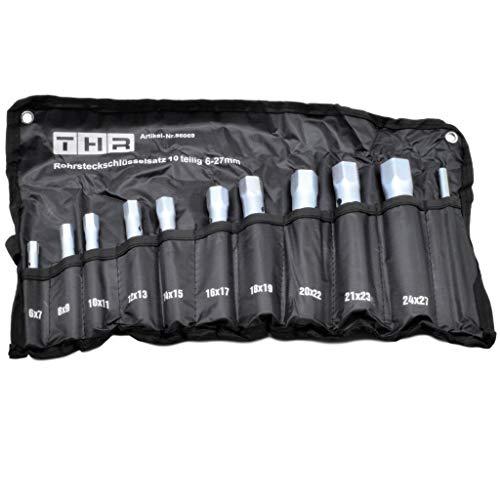 Chiave a tubo, set da 10pezzi, 6-27 mm in borsa arrotolabile
